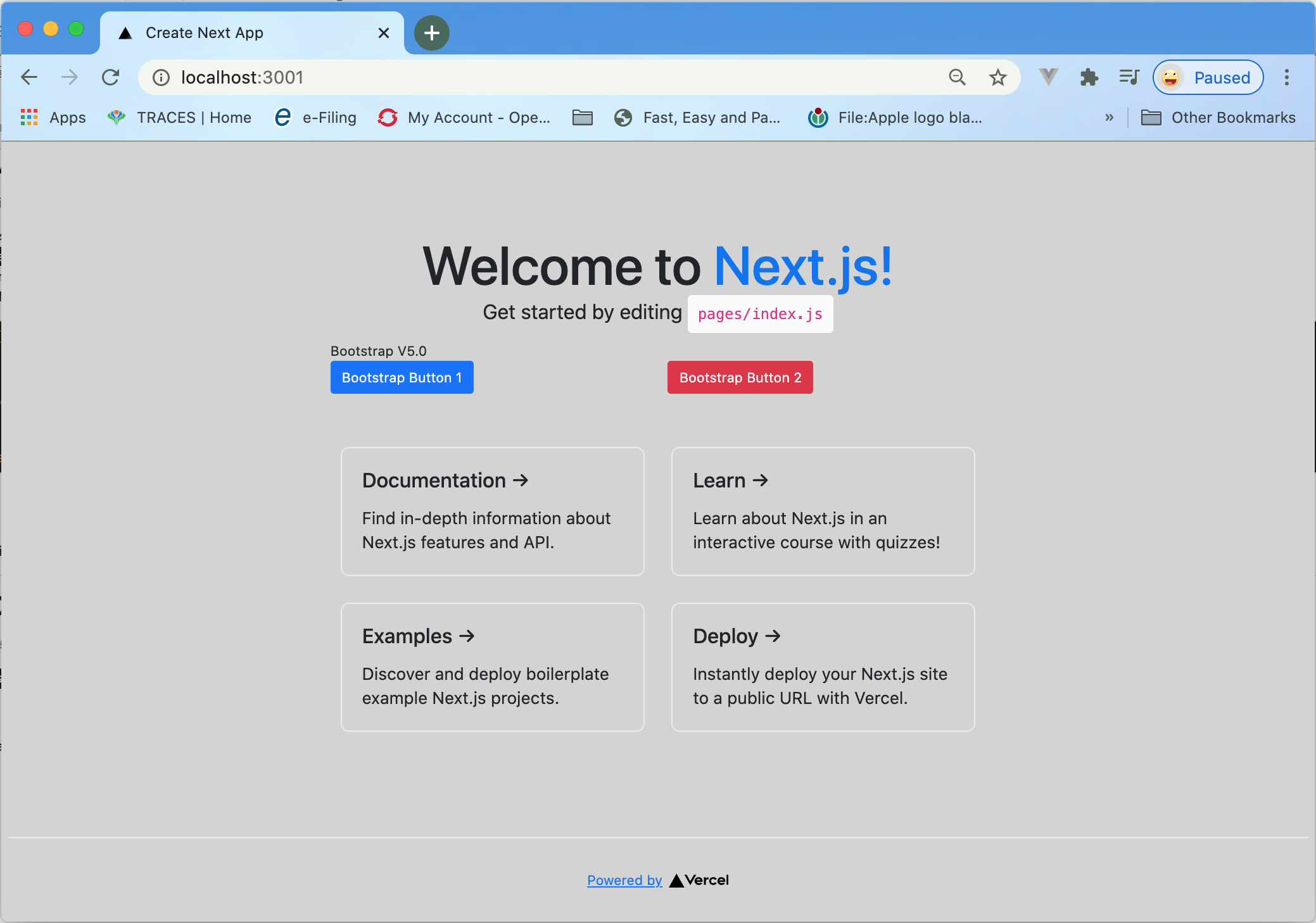next with typescript with bootstrap v5